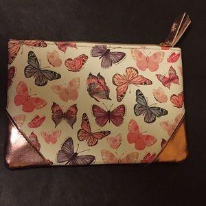 Ipsy butterfly w/ metallic corners matte pink back